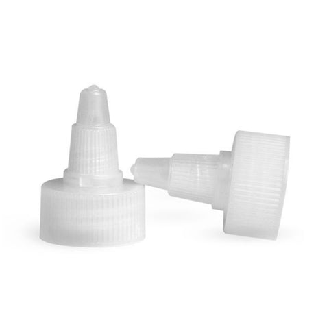 Natural Twist Top Dispensing Caps - Bottle Cap Size: 20-410 - Set of 25