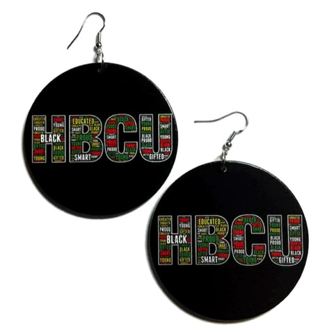 HBCU Smart Gifted Statement Dangle Wood Earrings