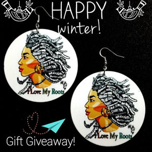 Holiday 2019 Giveaway - I LOVE MY ROOTS EARRINGS