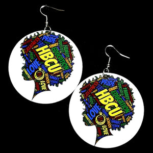 HBCU Love Statement Dangle Wood Earrings