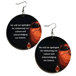 Embracing Black History Statement Dangle Wood Earrings