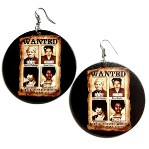 Well Behaved Women Seldom Make History Statement Dangle Wood Earrings