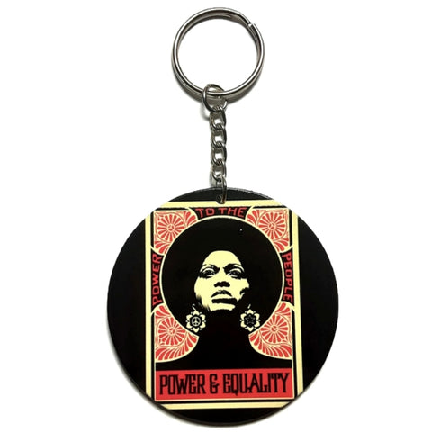 POWER EQUALITY Angela Davis Keychain