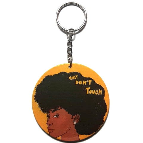Honey Do Not Touch My Hair Keychain