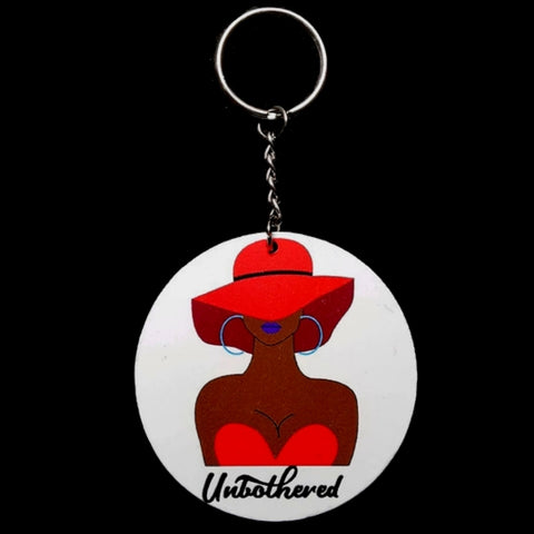 Unbothered Lady in Red Keychain