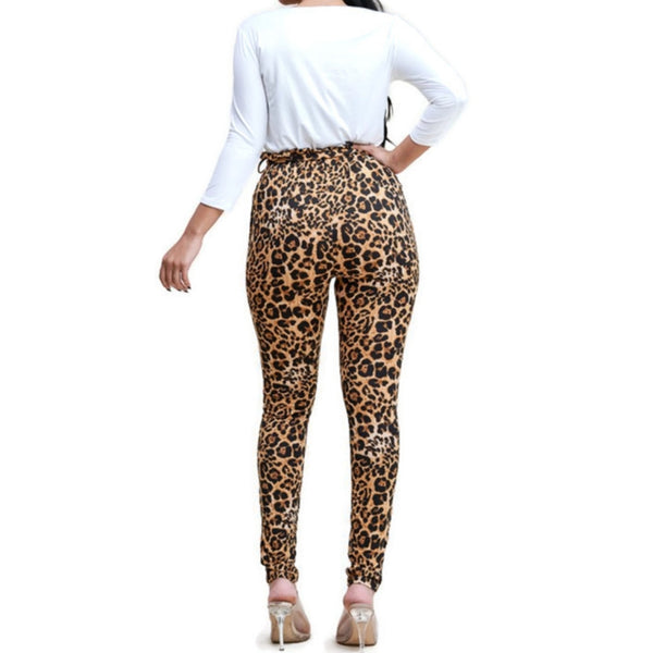 MM Faith Hope Love Ivory Top Leopard Pant Set