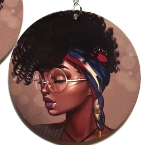 Brooklyn Girl Fashion Statement Dangle Wood Earrings