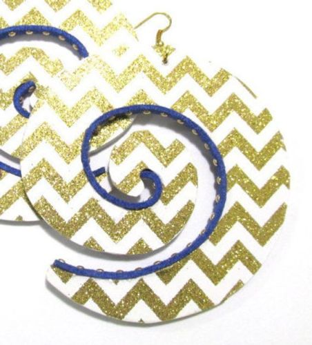 Chevron Swirl Handmade Multi Statement Dangle Wood Earrings