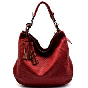 Chill X by Le Miel V-Pattern Embossed Hobo Shoulder Handbag