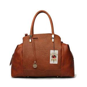 Urban Expressions Talene Vegan Leather Tan Handbag