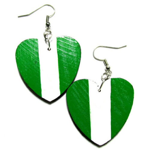 NIGERIA Africa LOVE Multi-Color Fashion Jewelry Dangle Handmade Earrings