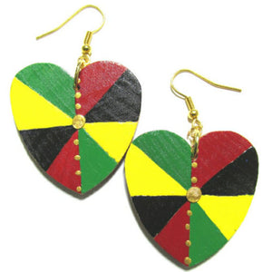 IRIE LOVE Multi-Color Rasta Fashion Jewelry Dangle Handmade Earrings