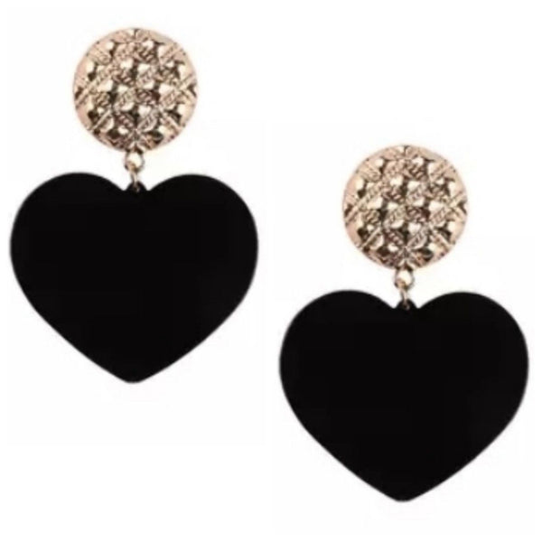 Spotted Love Gold Tone Stud Dangle Fashion Jewelry Earrings