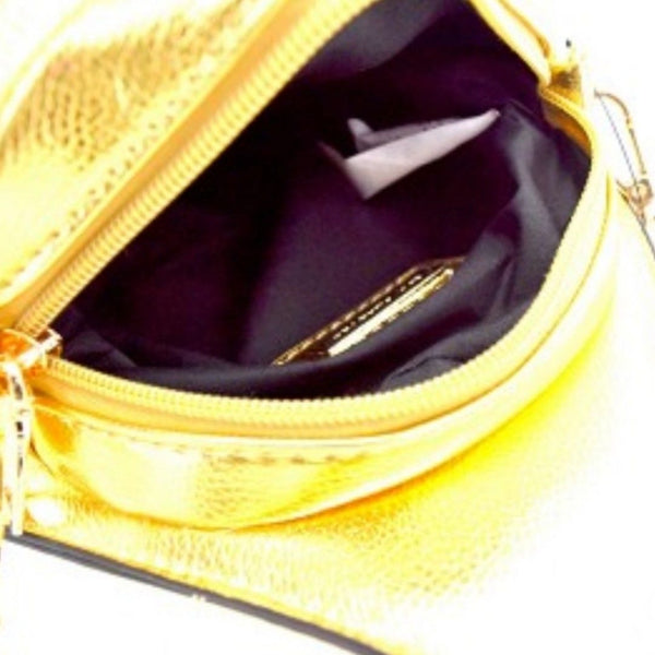 Gold Money Bag Cross Body Novelty Handbag