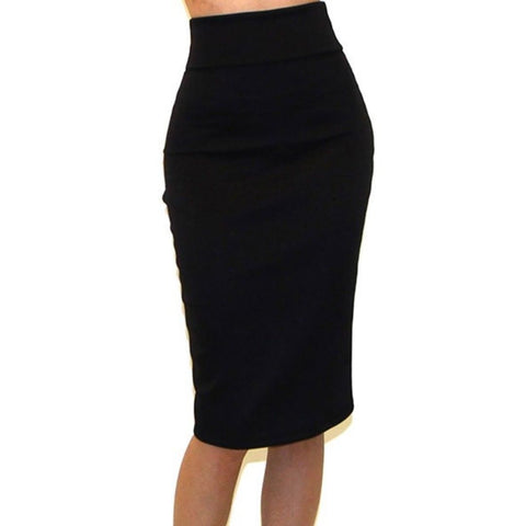 Got Style Black Bodycon Casual Pencil Skirt