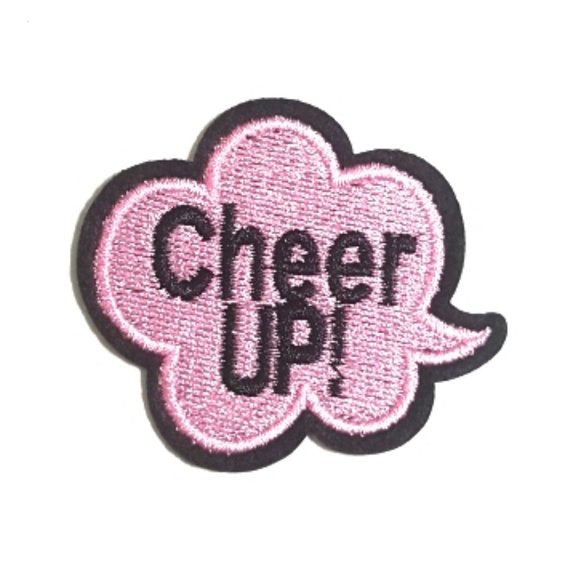 Cheer UP Expression Iron-On Patches