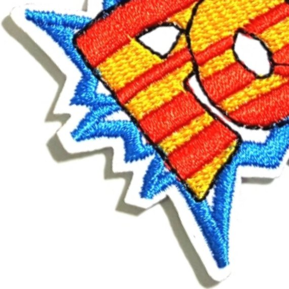 POW Blue Expression Iron-On Patches