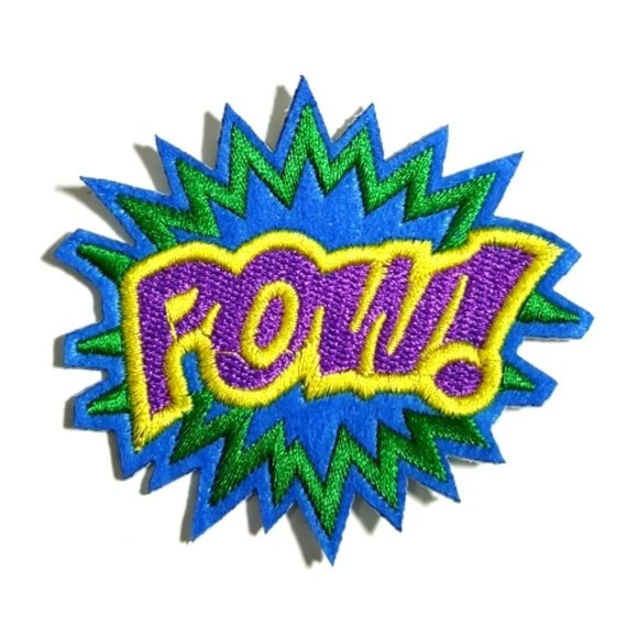 POW Puprle Expression Iron-On Patch