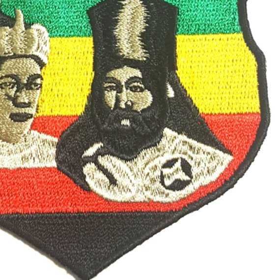 King Haile Selassie I and Empress Menen Asfaw Rasta Iron-On Patch