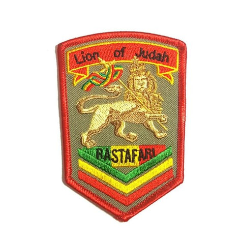 Lion Of Judan Rastafari Iron-On Patch
