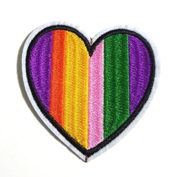 Rainbow Heart Iron-On Patch