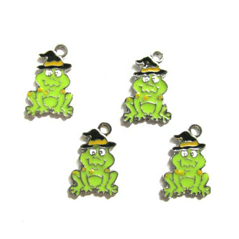 Halloween Witch's Toad with Witch Hat Jewelry Bracelet Necklace Charms