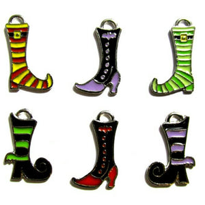 Halloween Witch Boots Bracelet Jewelry Charms