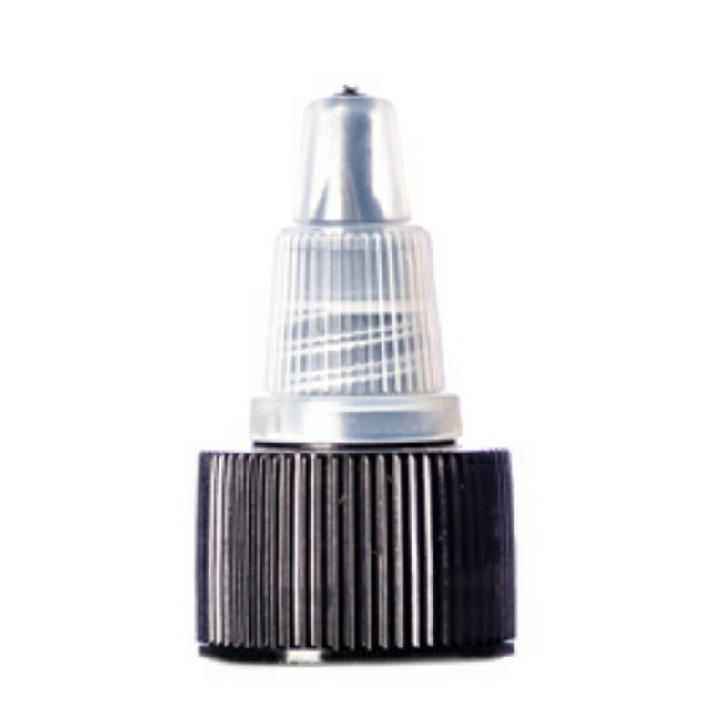 Black Natural Twist Top Dispensing Caps - Bottle Cap Size: 24-410 - Set of 25