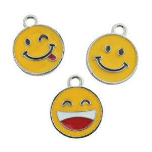 Smiley Silly Emoji Jewelry Bracelet Necklace Charms