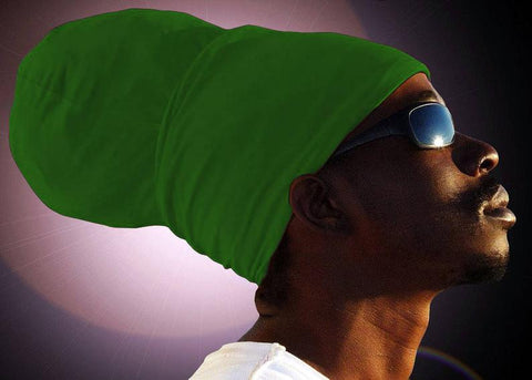 Unisex Bright Green Rasta Headwrap Turban
