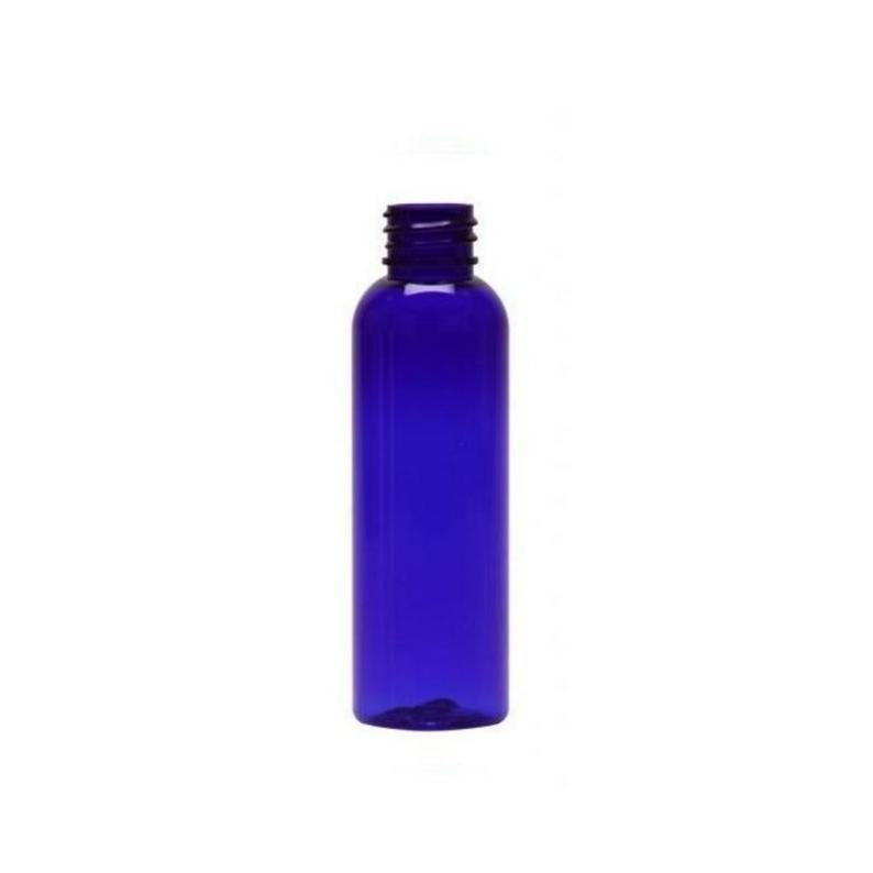 4oz Blue Clear Cosmo PET Plastic Bottles - Set of 25