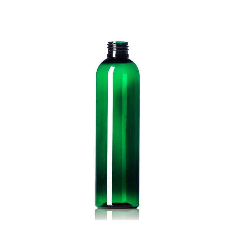 8oz Green Cosmo PET Plastic Bottles - Set of 25