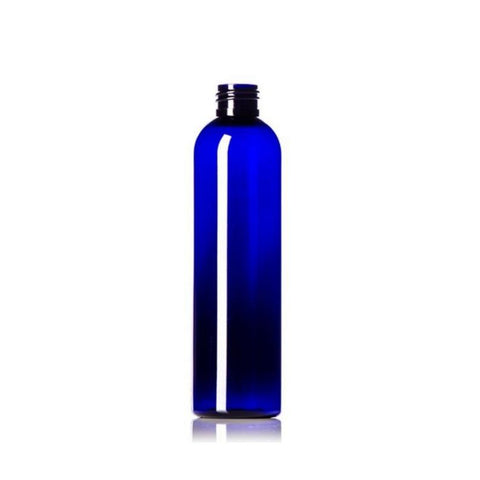 8oz Blue Cosmo PET Plastic Bottles - Set of 25