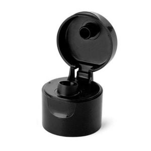 Black Flip Dispensing Caps - Bottle Cap Size: 24-410 - Set of 25