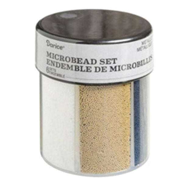 Darice™ Multicolor MICROBEAD Caddy Metallic Glitter