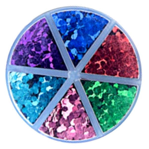 Darice™ PRIMARY COLORS Caddy Hexagon Chunky Glitter