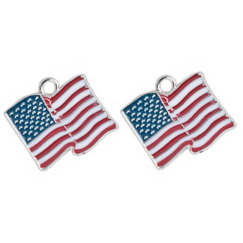 USA Flag Jewelry Bracelet Necklace Charms