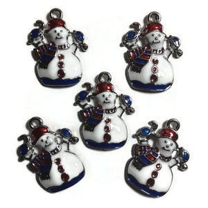 Snowman Scarf Jewelry Bracelet Necklace Charms