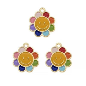 Daisy Smiley Face Jewelry Bracelet Necklace Charms