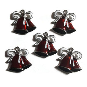 Christmas Red Bells Jewelry Bracelet Necklace Charms