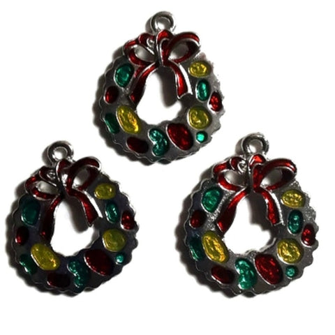 Christmas Wreath Jewelry Bracelet Necklace Charms