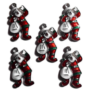 Holly Jolly Santa Jewelry Bracelet Necklace Charms