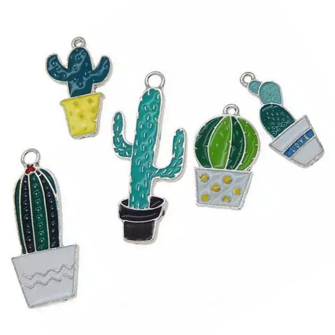 Assorted Cactus Plants Jewelry Bracelet Necklace Charms