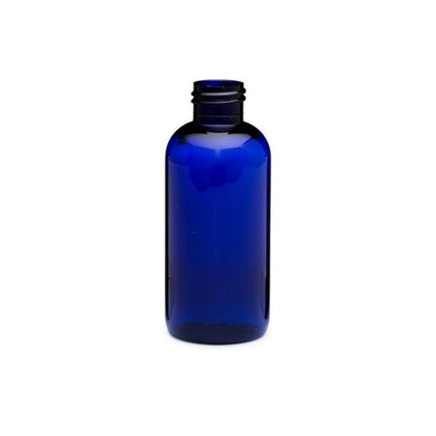 4oz Blue Boston Round PET Plastic Bottles - Set of 25