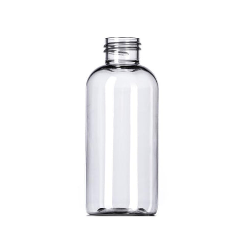 4oz Clear Boston Round PET Plastic Bottles - Set of 25