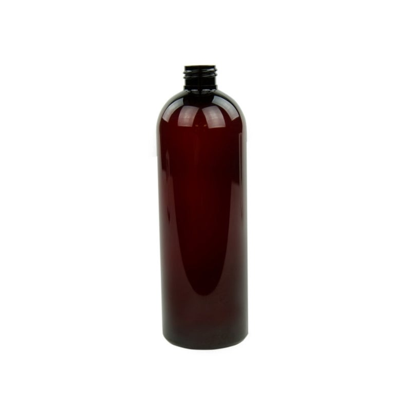 16oz Amber Cosmo PET Plastic Bottles - Set of 25