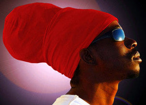 Unisex Red Rasta Headwrap Turban
