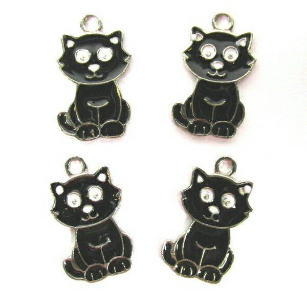 Halloween Black Cat Charms