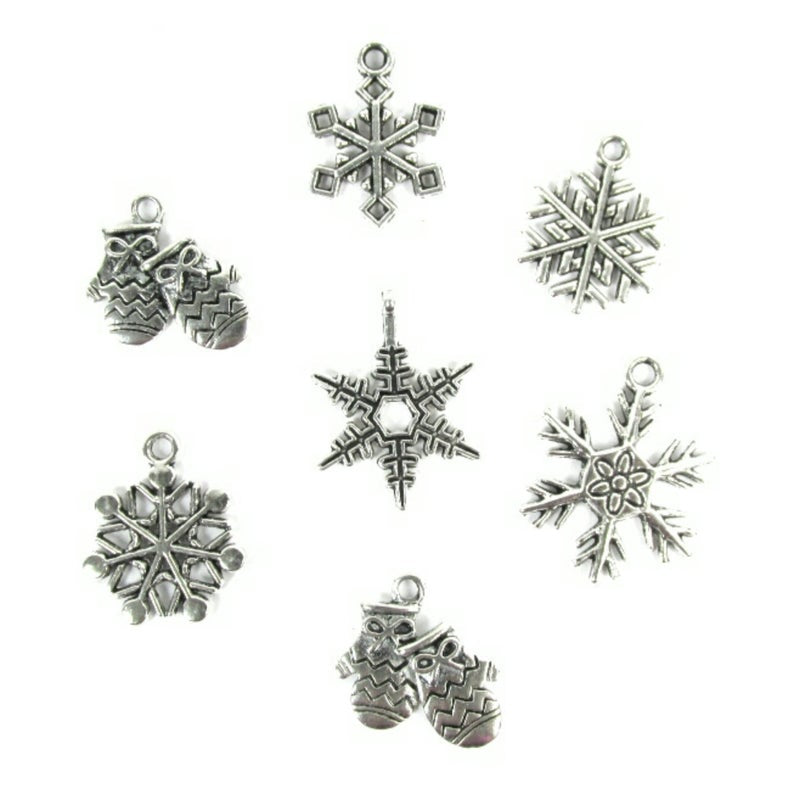 Snowflakes and Mitten Charms