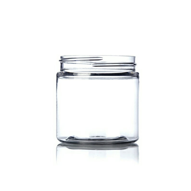 4oz Clear PET Single Wall Plastic Jars - Set of 25